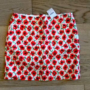 NWT J. Crew Factory Skirt Floral Print Size 0